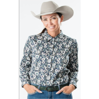 OUTBACK - Ladies Classic shirt - Teal Blossom